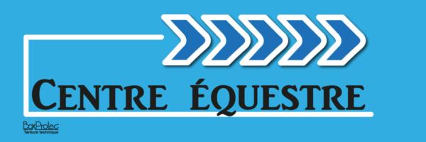 panneau flèchage centre équestre bleu fléchage boxprotec