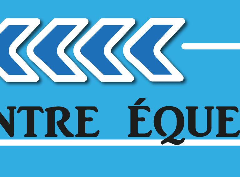 panneau flèche centre hippique bleu fléchage boxprotec