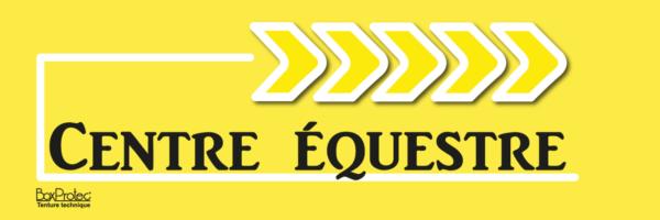 fléchage centre équestre jaune boxprotec