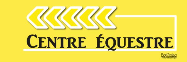 flèche centre équestre jaune fléchage boxprotec