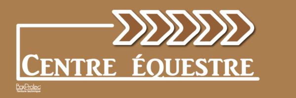 signalétique d'écurie centre équestre marron fléchage boxprotec