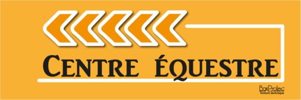 plaque directionnelle centre équestre orange fléchage boxprotec