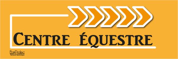 panneau de direction centre équestre orange fléchage boxprotec