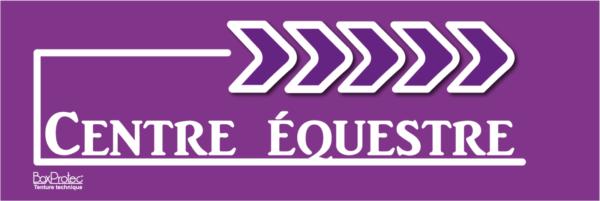 affichage de flèche centre équestre violet fléchage boxprotec