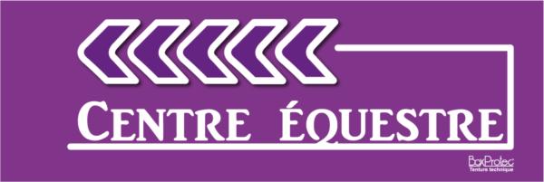 panneau flèche centre équestre violet fléchage boxprotec