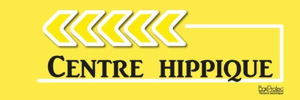 panneau flèche centre hippique jaune fléchage boxprotec