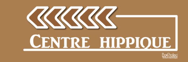 panneau flèche centre hippique marron fléchage boxprotec