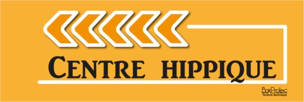 panneau flèche centre hippique orange fléchage boxprotec