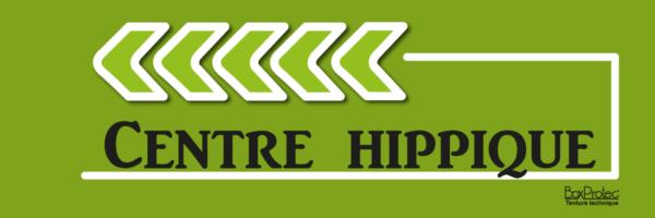 panneau flèche centre hippique vert fléchage boxprotec