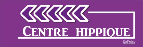 panneau flèche centre hippique violet fléchage boxprotec