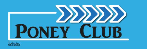 flèche directionelle poney club bleu fléchage boxprotec