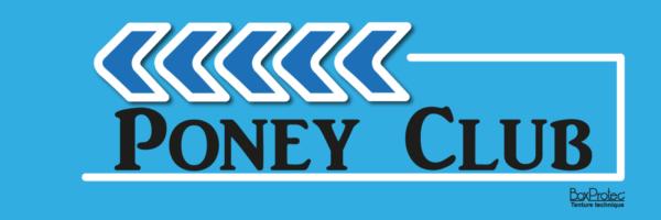 panneau flèche poney club bleu fléchage boxprotec