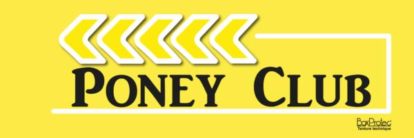 panneau fléchage poney club jaune boxprotec