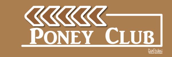 panneau signalétique d'écurie poney club marron fléchage boxprotec
