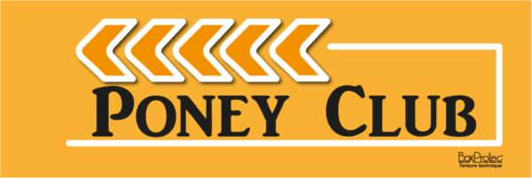 panneau de direction poney club orange fléchage boxprotec