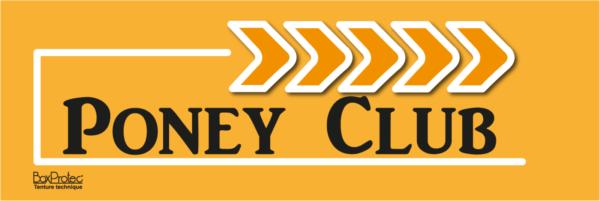 plaque de signalétique d'écurie poney club orange fléchage boxprotec