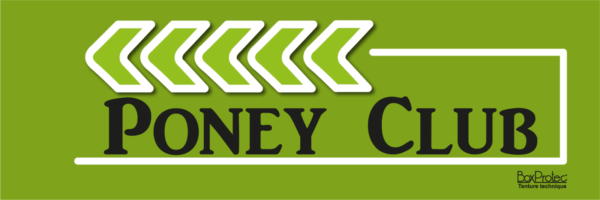 panneau directionnel poney club vert fléchage boxprotec