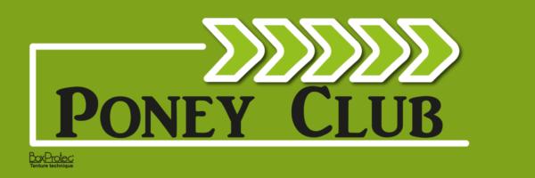 plaque flèche poney club vert fléchage boxprotec