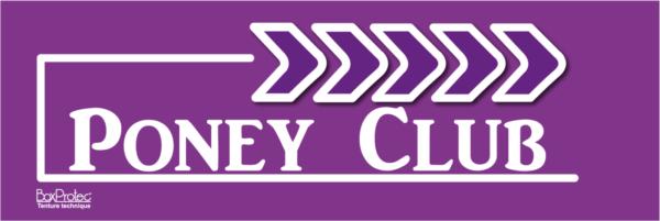 panneau publicitaire flèche poney club violet fléchage boxprotec