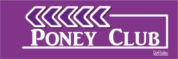 affichage de flèche poney club violet fléchage boxprotec