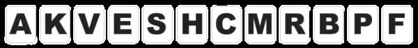 lettres stickers de manège, de carrière ou piste Lot de 12 figures de lettre autocollantes (repère, équestre) pour théorie ou enseignement en poney club ou en dressage.