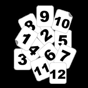 lot de numéros d'obstacle autocollants