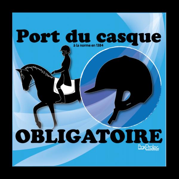 panneau port du casque obligatoire bleu