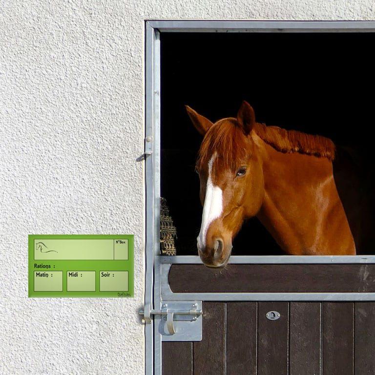 plaque de ration chevaux effaçable