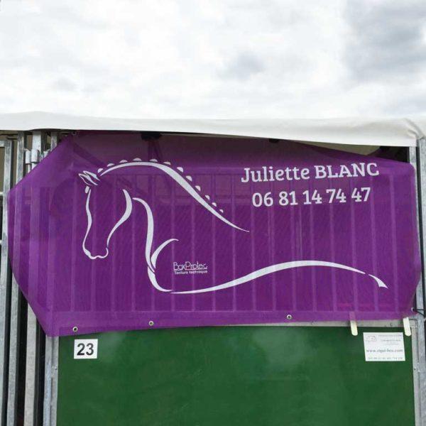 tenture de box au nom personnalisé juliette blanc