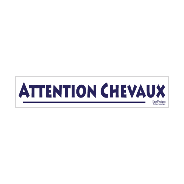 stickers attention chevaux blanc boxprotec