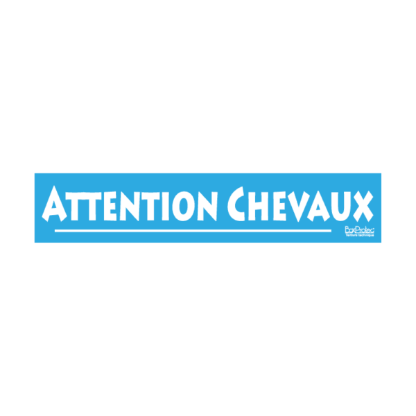 stickers attention chevaux bleu boxprotec