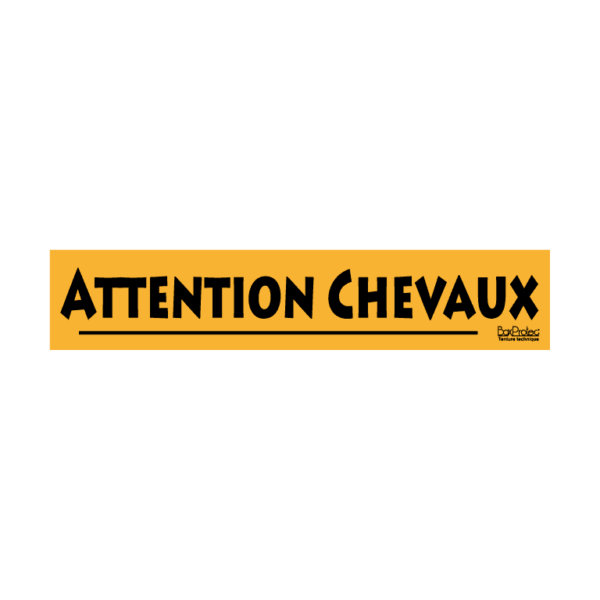 autocollant attention chevaux orange boxprotec