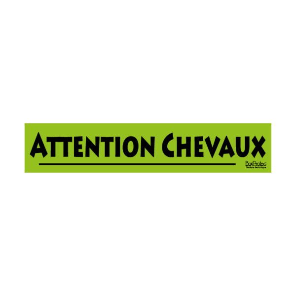 autocollant attention chevaux vert boxprotec