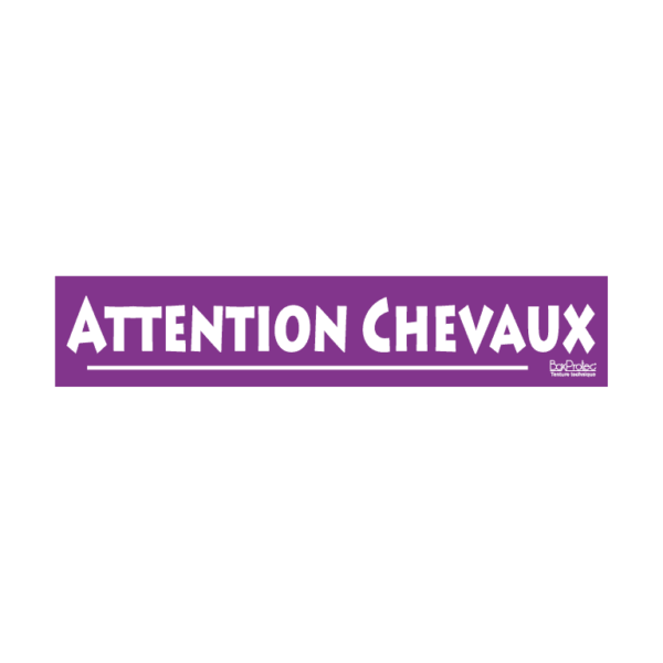 autocollant attention chevaux violet boxprotec