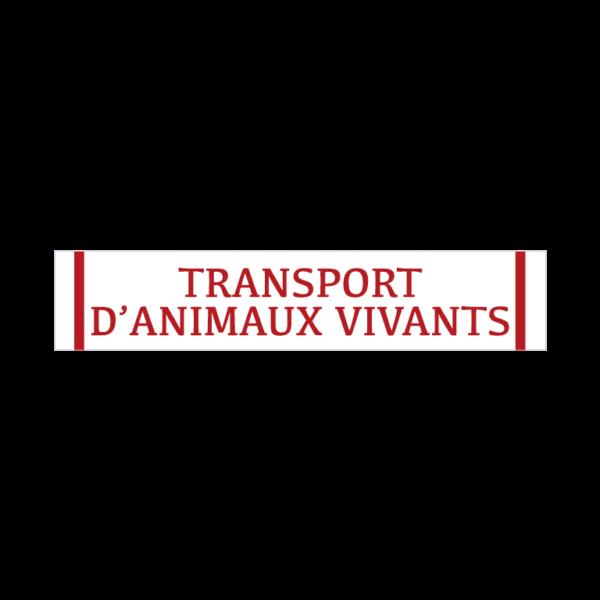 autocollant transport d'animaux vivants blanc et rouge