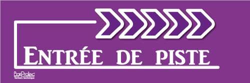 flèche entrée de piste violet droite boxprotec
