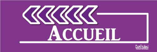 flèche accueil violet gauche boxprotec