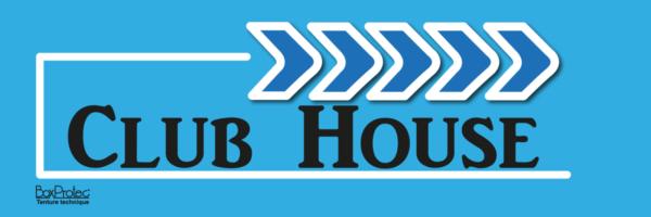 plaque directionnelle fléchage club house bleu boxprotec