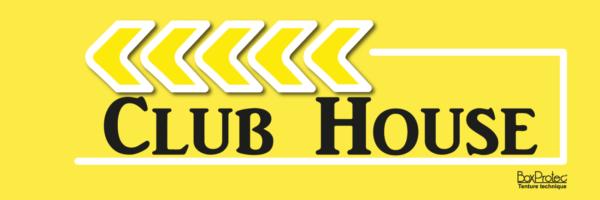 panneau publicitaire flèche club house jaune fléchage boxprotec