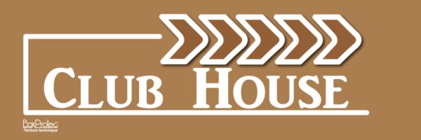 plaque fléchage club house marron boxprotec