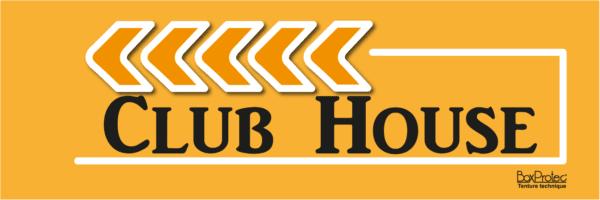 flèche de direction club house orange fléchage boxprotec