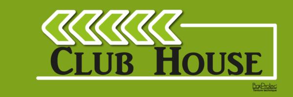 panneau flèche club house vert fléchage boxprotec