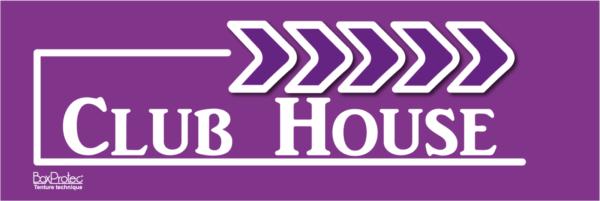 fléchage club house violet boxprotec