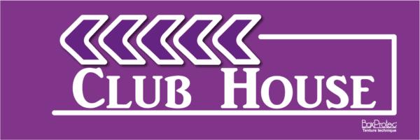 flèche club house violet fléchage boxprotec