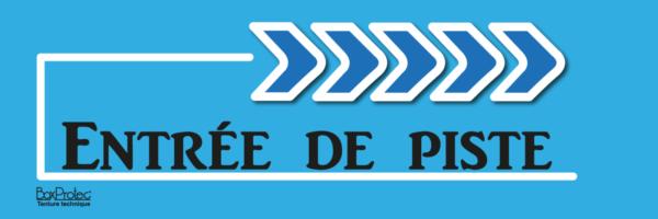 flèche entrée de piste bleu boxprotec