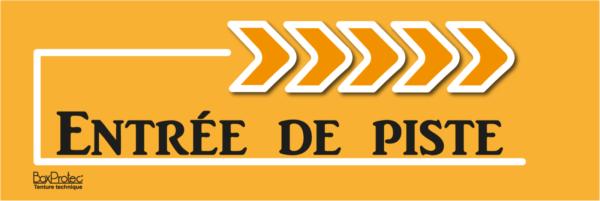 flèche entrée de piste orange boxprotec