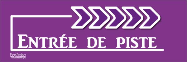 flèche entrée de piste violet boxprotec