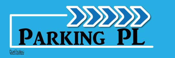 affiche fléchage bleu parking poids lourd boxprotec