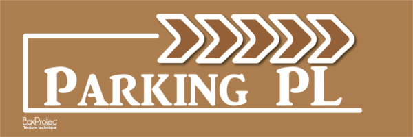 panneau publicitaire fléché marron parking poids lourd boxprotec