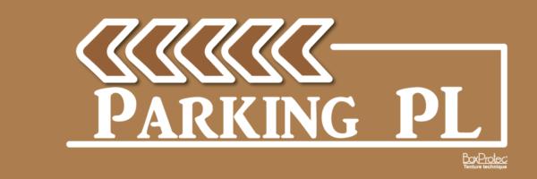 affichage de flèche marron parking poids lourd boxprotec